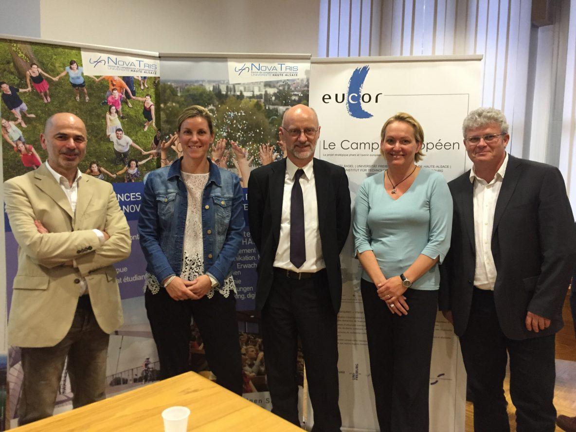 Conférence Au fil du Rhin avec Patrick Hell, Magalie Obrecht, Serge Neunlist, Laurence Becker et Bernard Bloch